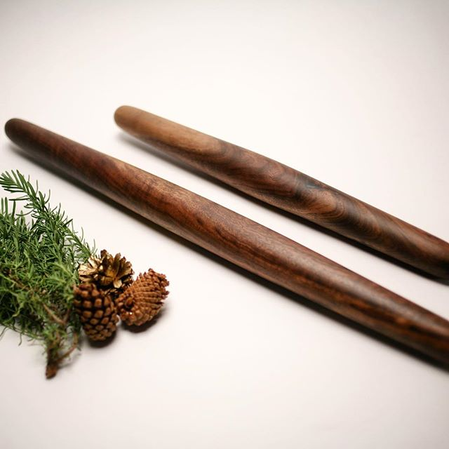 Bake your heart out this holiday season with a handmade rolling pin. Crafted from reclaimed walnut, it's sure to add extra joy to your next batch of Christmas cookies! Link to shop in profile!  #timberandmain