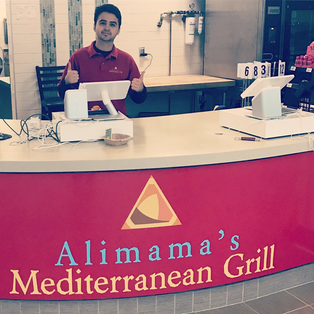 Armaan serves free smiles at alimama's!!