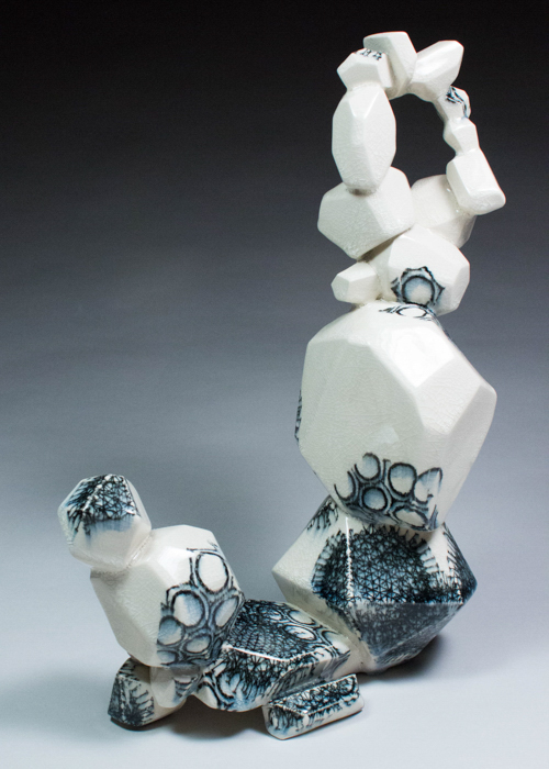 Vertical Intuihedron (Creme #2), 2014