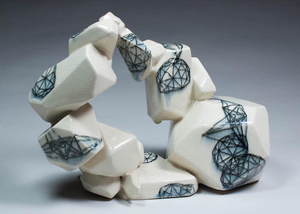 Vertical Intuihedron (Creme #1), 2014
