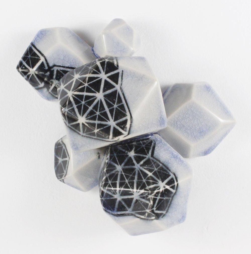 Intuihedron (pale cobalt), 2016