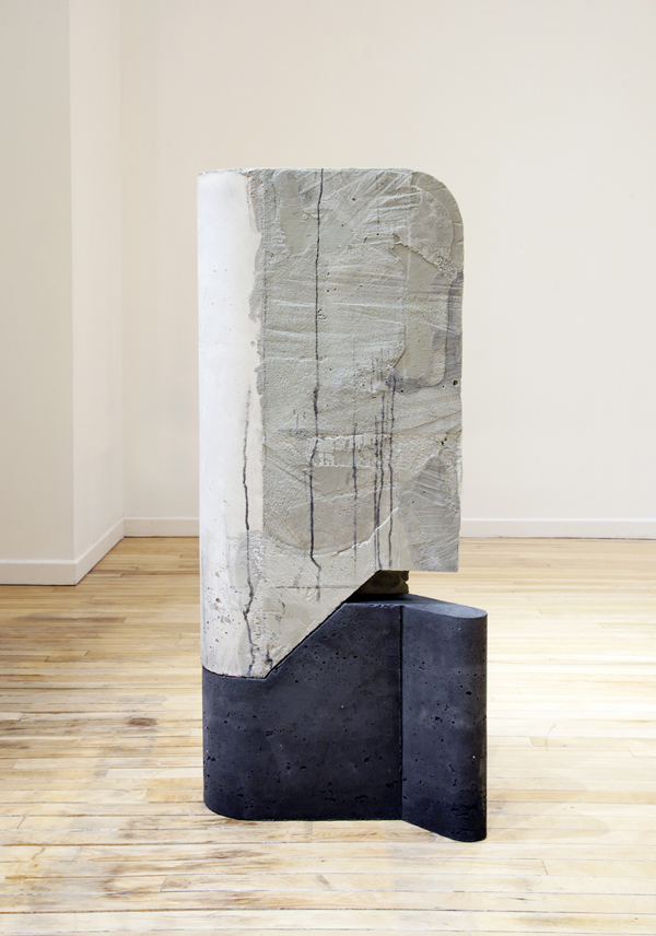 "Balimidor , 2014, concrete, foam, and wood, 45"" x 21"" x 12"""