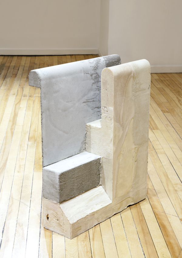 "Hepilumor , 2013, concrete and foam, 21"" x 21"" x 11"""