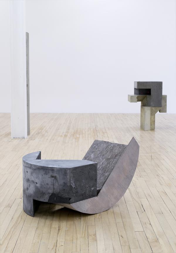"Front:  Oppik , 2016, concrete, 19"" x 31"" x 23"""