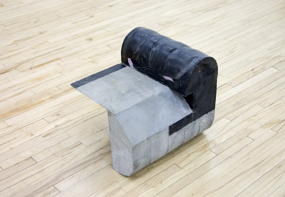"Gobidem , 2013, concrete and foam, 18"" x 20"" 17"""