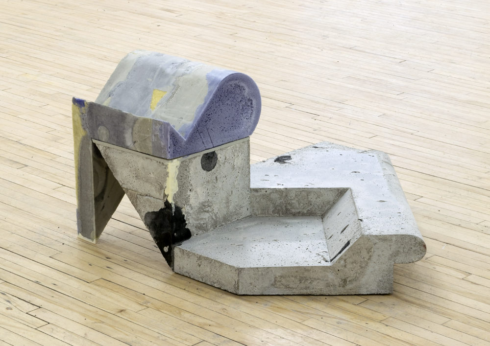 "Minapok , 2014, concrete, foam, and resin, 19"" x 37"" x 33"""