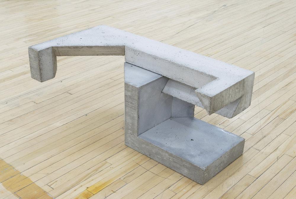 """Falkeen , 2015,concrete,15"""" x 35"""" x 18"""""""