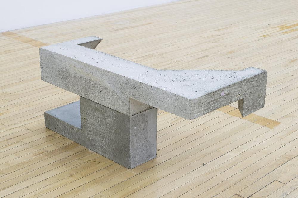 """Falkeen , 2015, concrete, 15"""" x 35"""" x 18"""""""