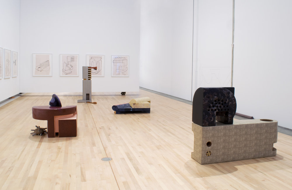 Components , 2011–2012, fabric, installation at Kamloops Art Gallery, British Columbia