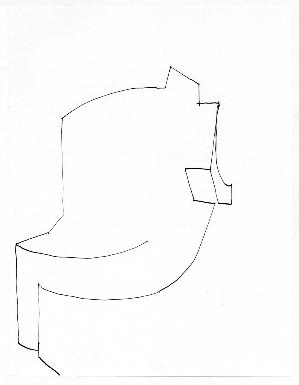 "Untitled drawing, 2016, ink on paper, 11"" x 8½""   Dessins d'atelier/Studio Drawings , publication accompanying  Numa , Battat Contemporary, Montreal"