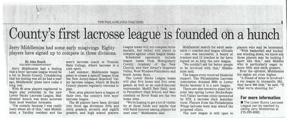 1994 Philadelphia Inquirer Article