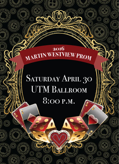 Casino Royale Prom Invite