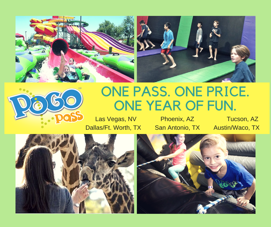 Discounted Family Fun Passes in Phoenix, San Antonio, Vegas, Dallas/Ft Worth, and Austin/Waco
