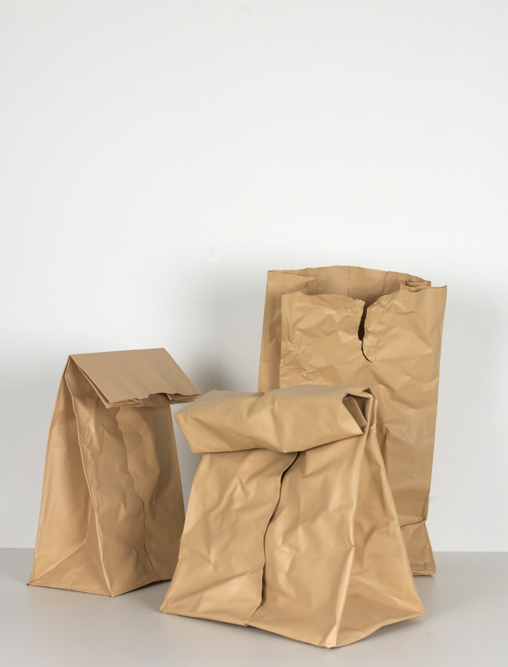 Beer Bag Series 2, 2014, Acrylic on copper (Select Installation)
