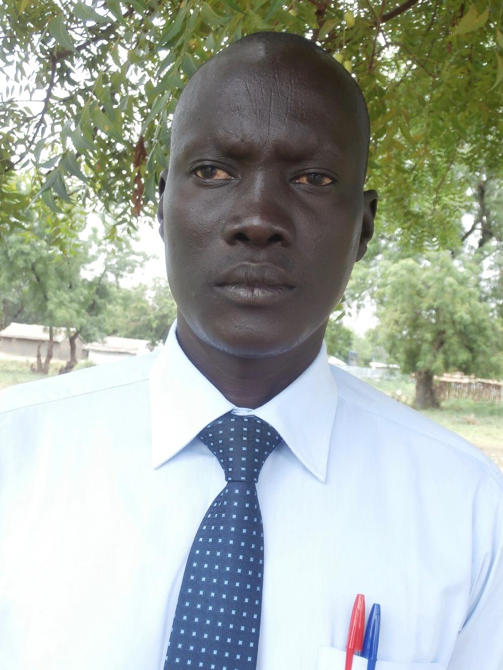 Mr. Akuei Char, Head teacher