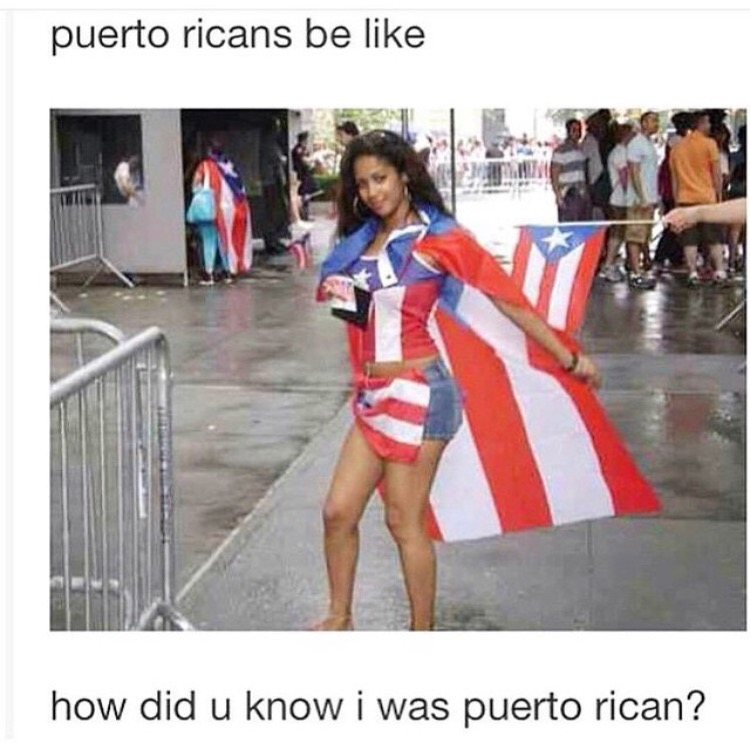 You're Puerto Rican!? I had no clue!!