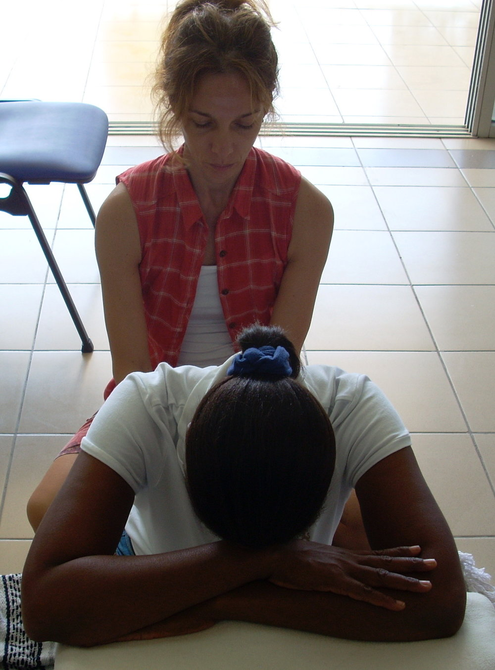 Reiki and restorative seated forward bend...deep bows!