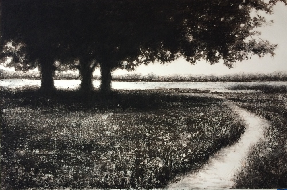 """Last Stand"" Monotype by Heather Halpern"