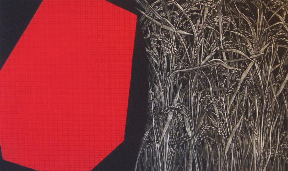 Katsunori Hamanishi Farm, 1997 Mezzotint Edition of 50