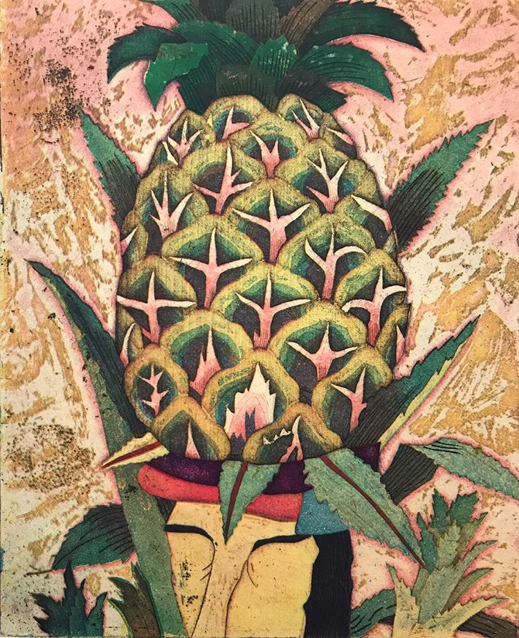 """Pineapple Head""  Yuji Hiratsuka"