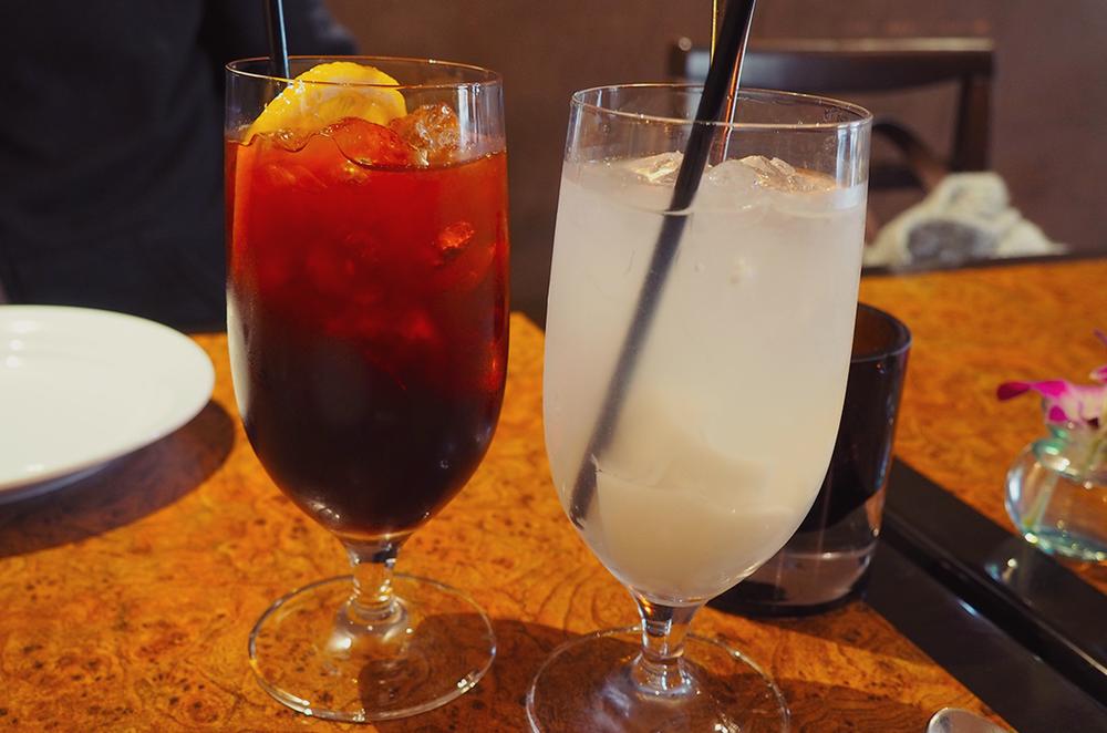 Palm Sugar Royal Thai Richmond Blog Review - lemon ice tea and coconut water