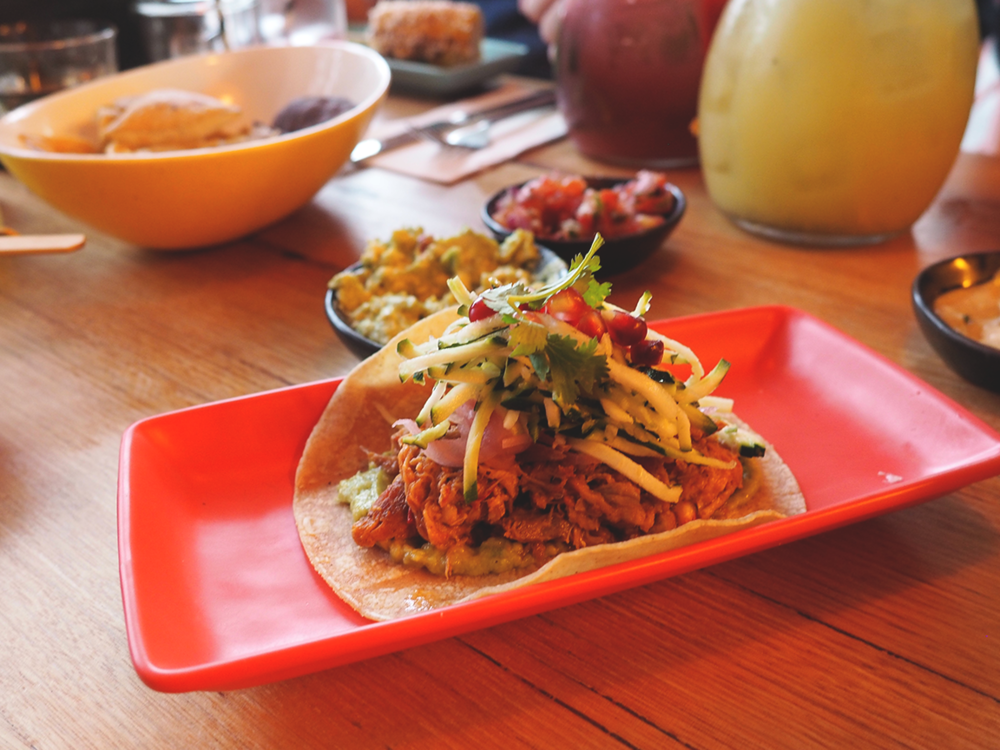 Fonda Mexican Hawthorn Blog Review - mexico city pulled pork taco
