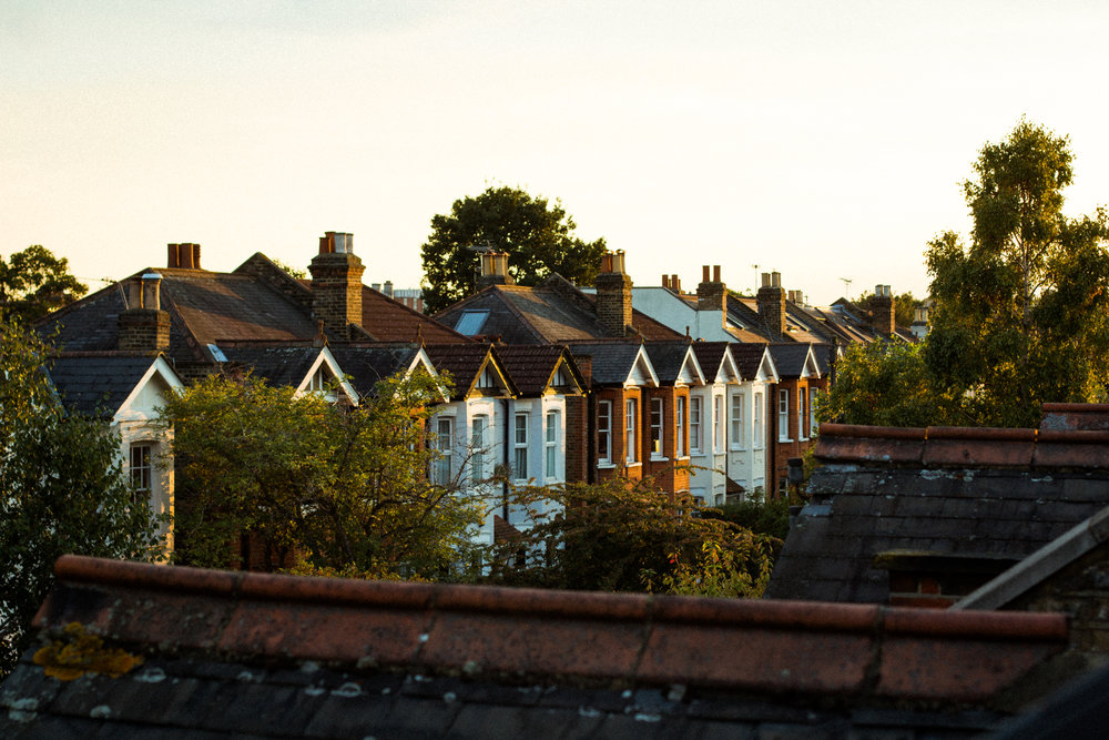 View from our Wimbledon rooftop at sunset
