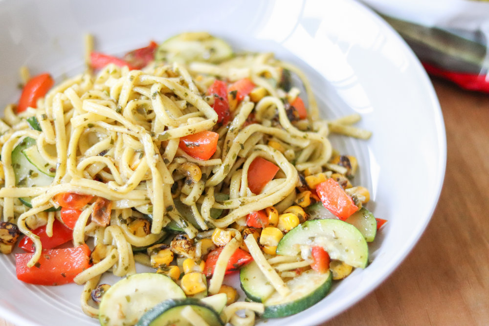15 Minute Dinner: Veggie Linguine