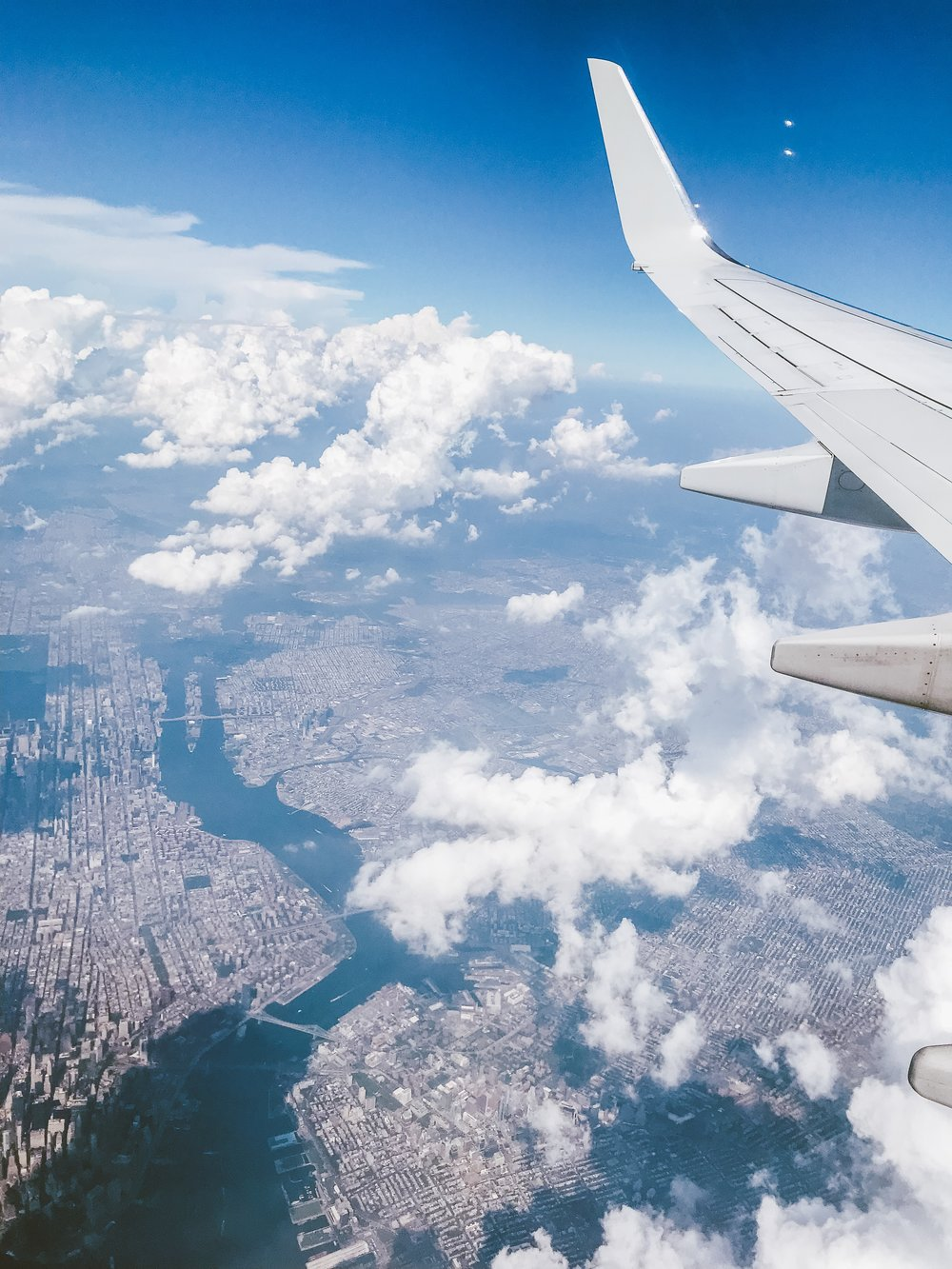 Bre Sheppard - My First NYFW - View Of NYC From The Plane.JPG
