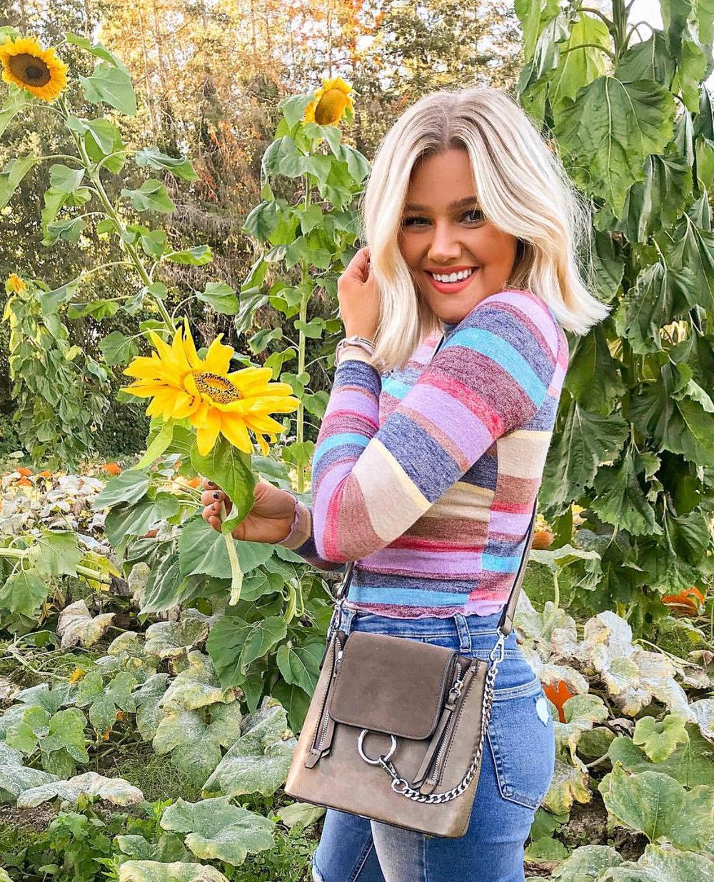 Bre Sheppard October Outfit Recap Pumpkin : Stripes : Sunflower.jpg