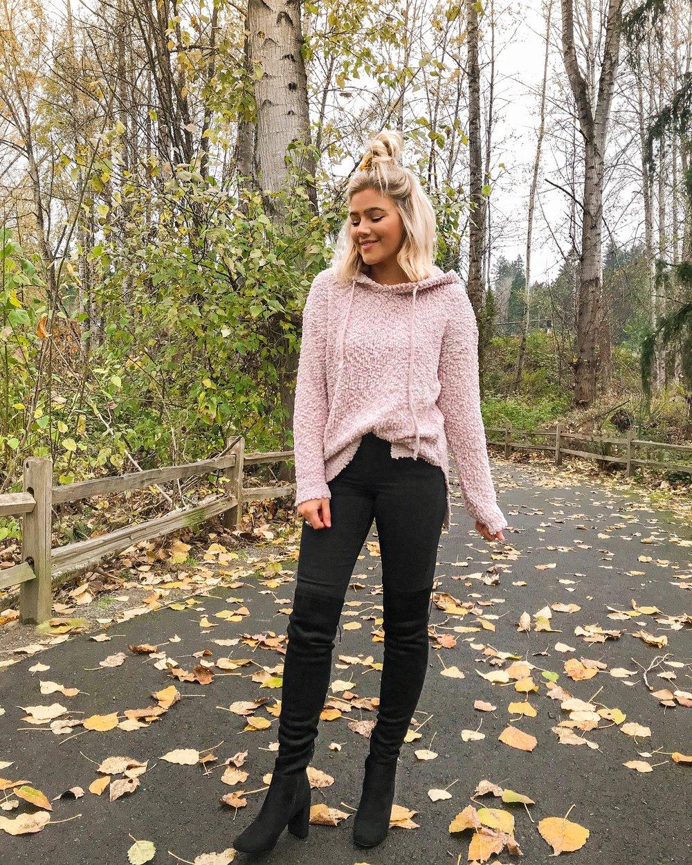 Bre Sheppard - Pink Lily Blogger Spotlight - Fuzzy Hoodie.JPG