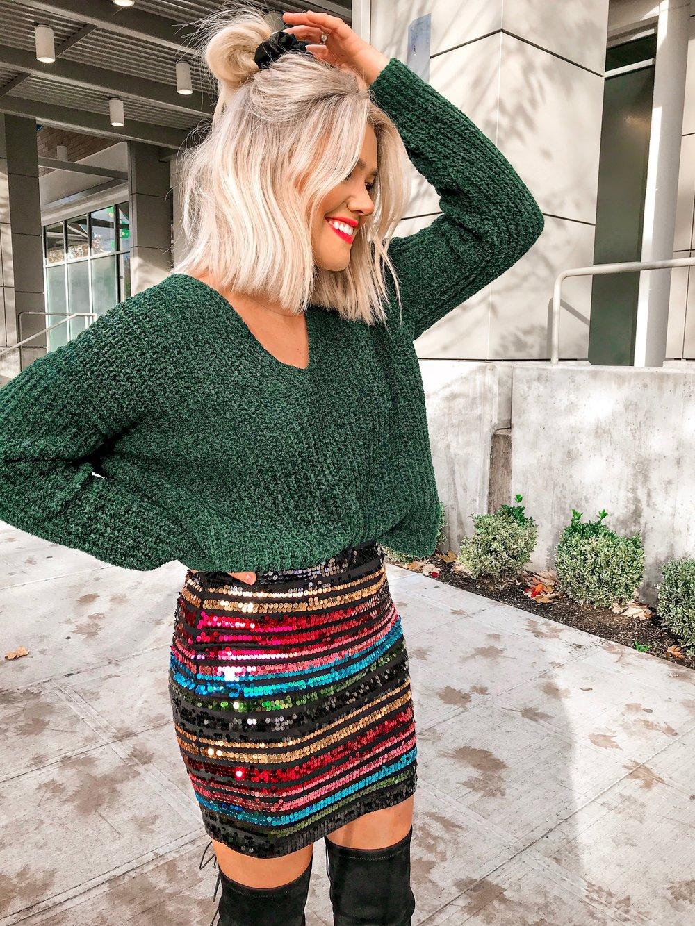 5f0fd1c2685f Bre Sheppard - Espress Holiday Style : Shimmer Skirt .JPG