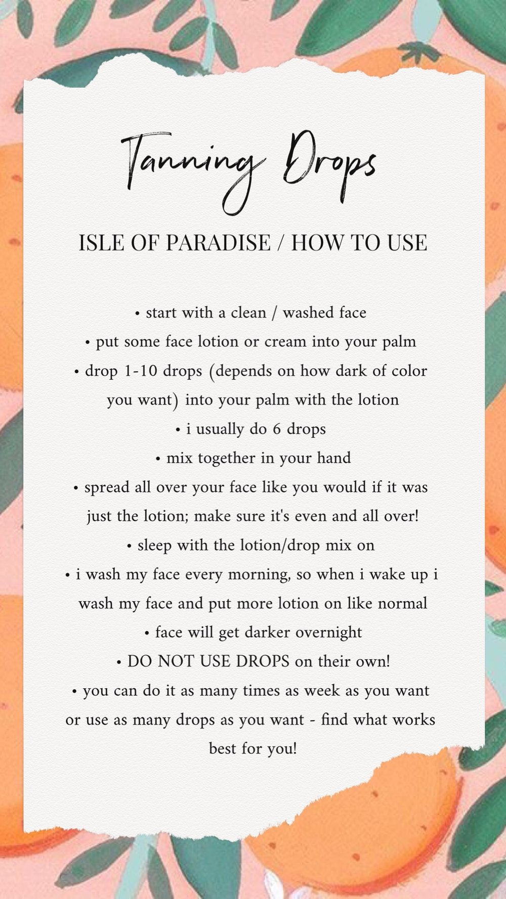 BRE SHEPPARD - Isle Of Paradise Tanning Drops HOW TO.JPG