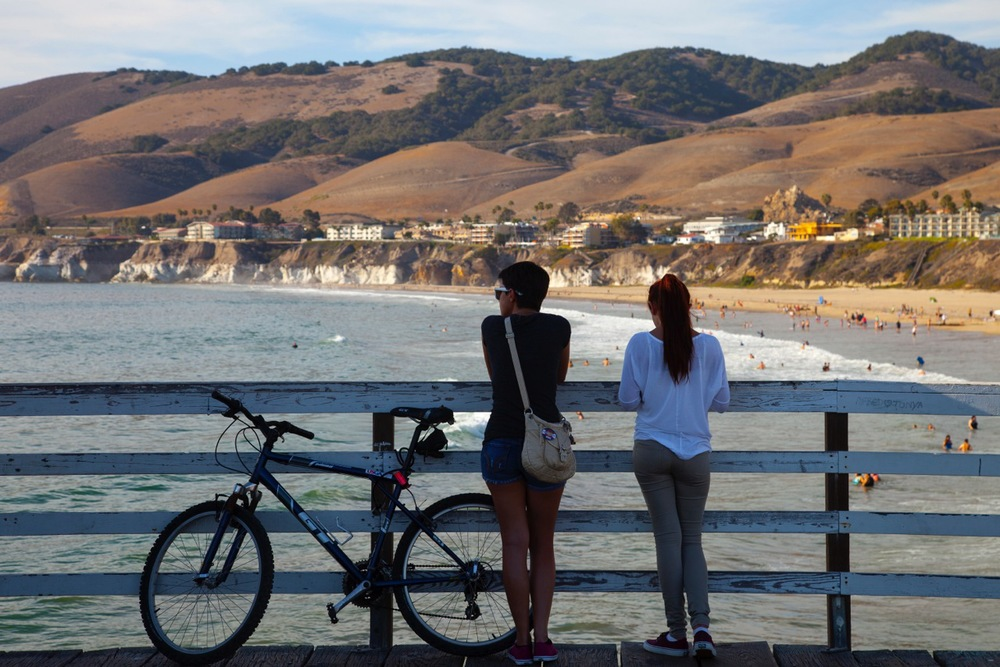 California's Central Coast from Pislmo Beach Pier