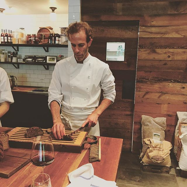 Tasting different breads baked at @bluehillfarm with @chefdanbarber. Pushing the limits of food.  ##  #nycchef #cheflife #nycdining #chefs #top50 #nyc #nycfood #chefsofinstagram #chefslife