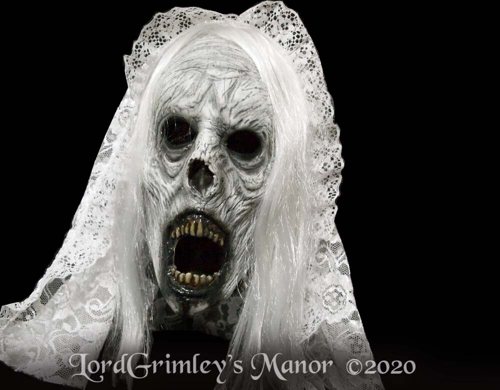 Halloween 2020 Mask White Weeping Wraith   Half Mask   White Variant — Lord Grimley's Manor