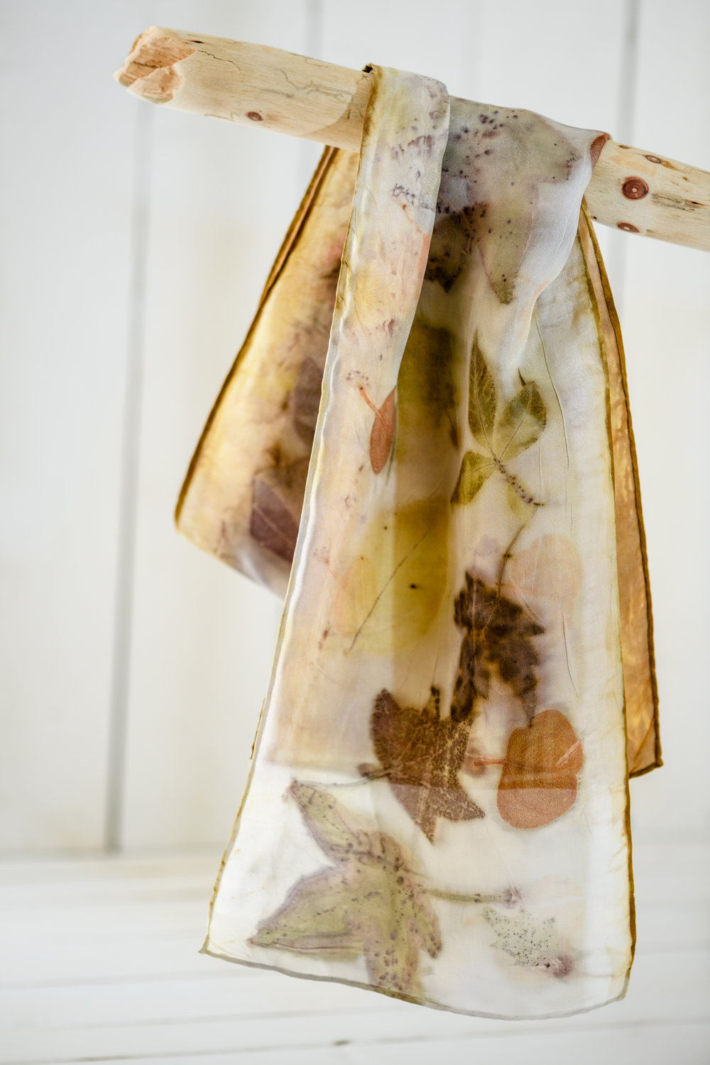 Eco Printed Silk Scarf