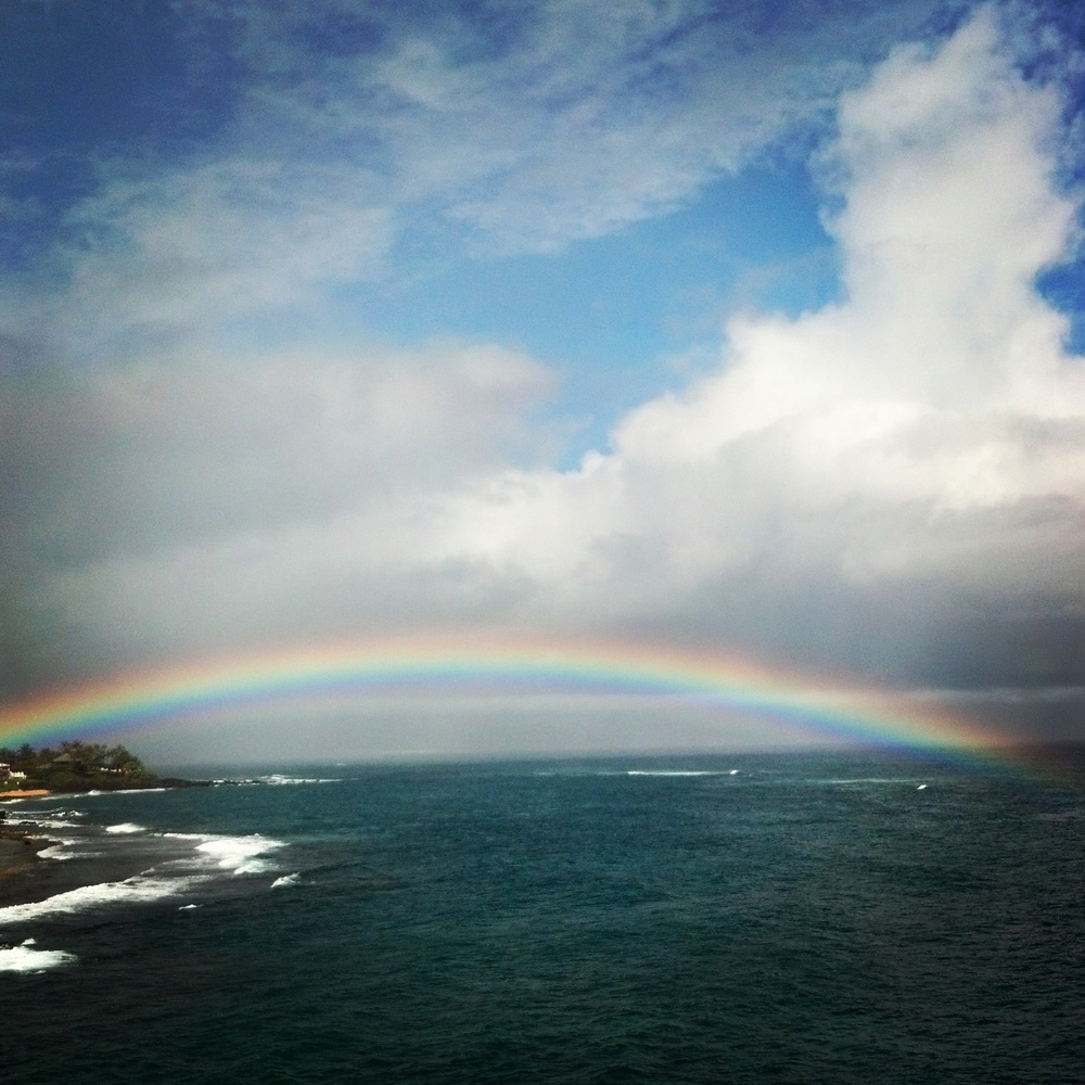 Another day, another rainbow. Driving to work from training on a beautiful Maui day.