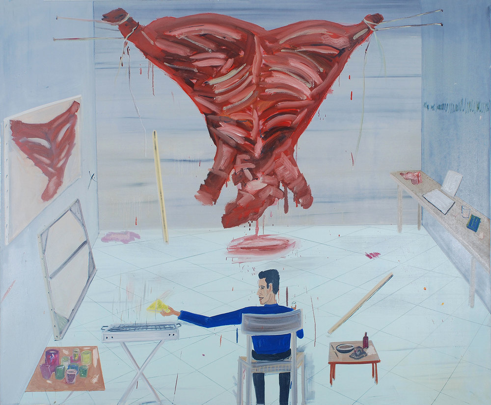 Barbecue, 2008    Oil on canvas, 160x197 cm