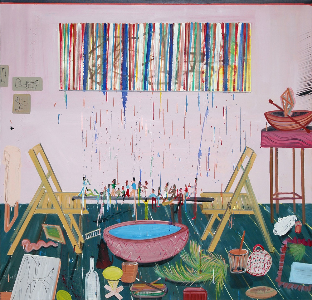 Between Two Chairs, 2008    Oil on canvas, 158x162 cm
