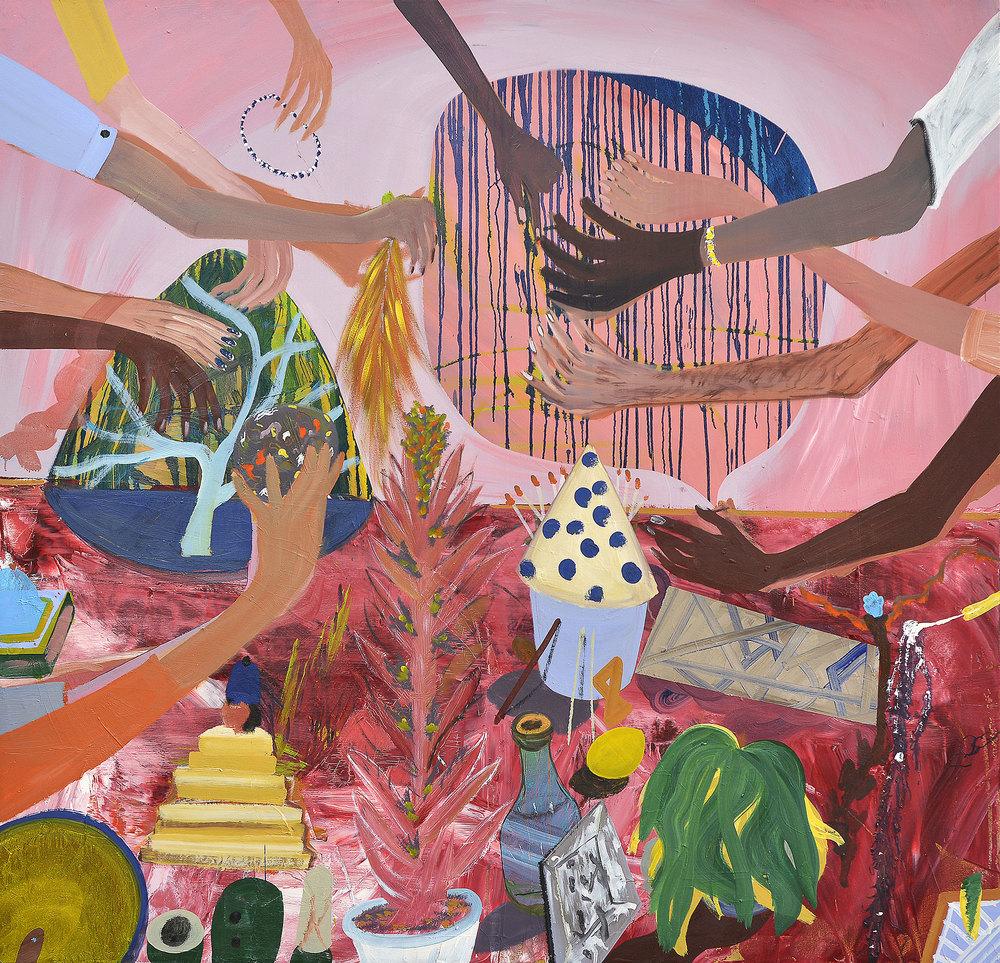 Folk, 2014    Oil on canvas,170x177 cm