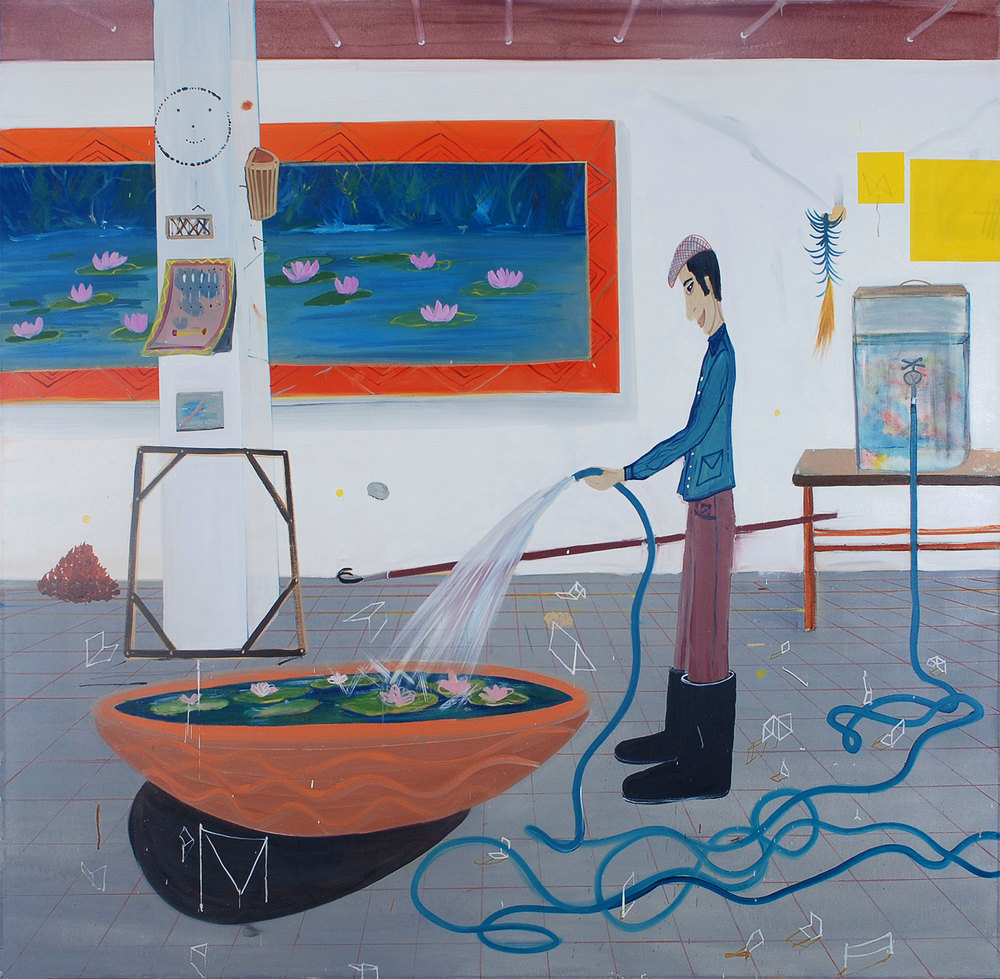 Gardner, 2009    Oil on canvas, 176x181 cm