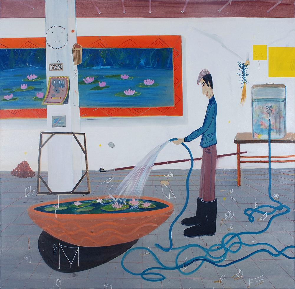 Gardner, 2009    Oil on canvas,176x181 cm