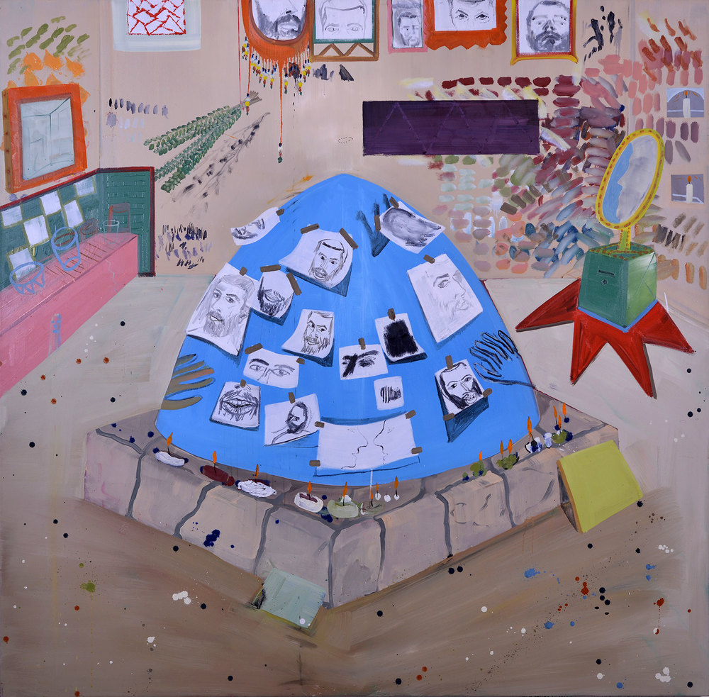 Hilula, 2013 Oil on canvas, 178x170 cm