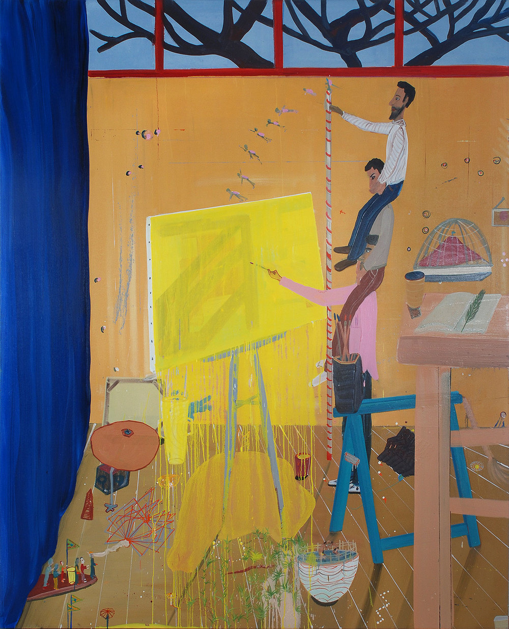 History Upon Me, 2009 Oil on canvas, 221x182 cm