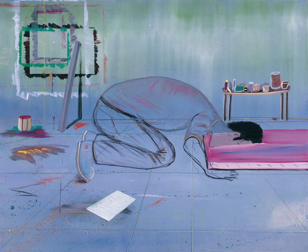 Kneeling, 2007 Oil on canvas, 155x194 cm
