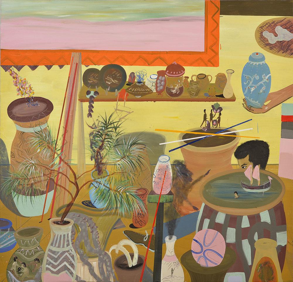 Mythologies, 2014    Oil on canvas,169x178 cm