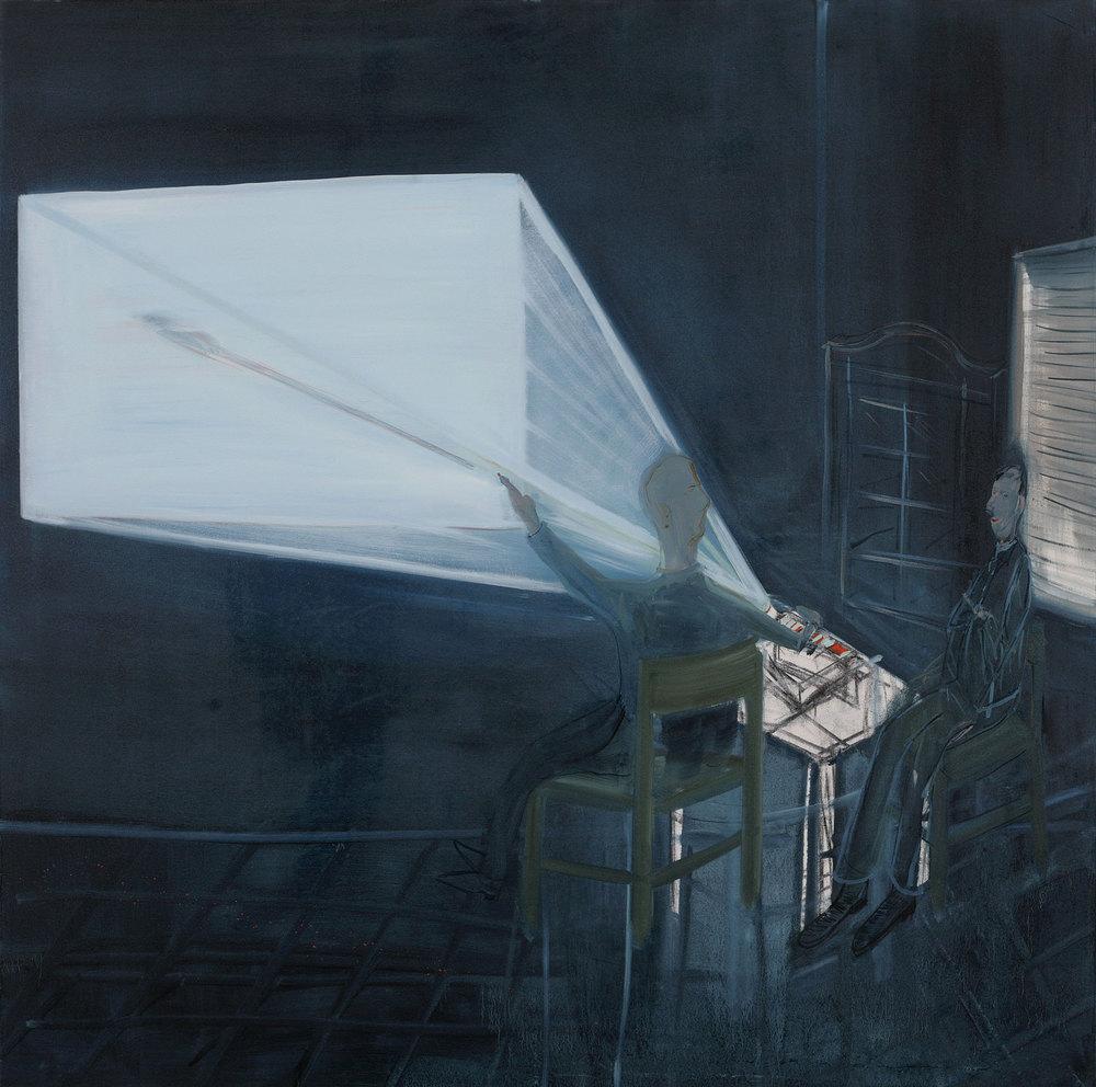 Presentation, 2007    Oil on canvas,160x160 cm