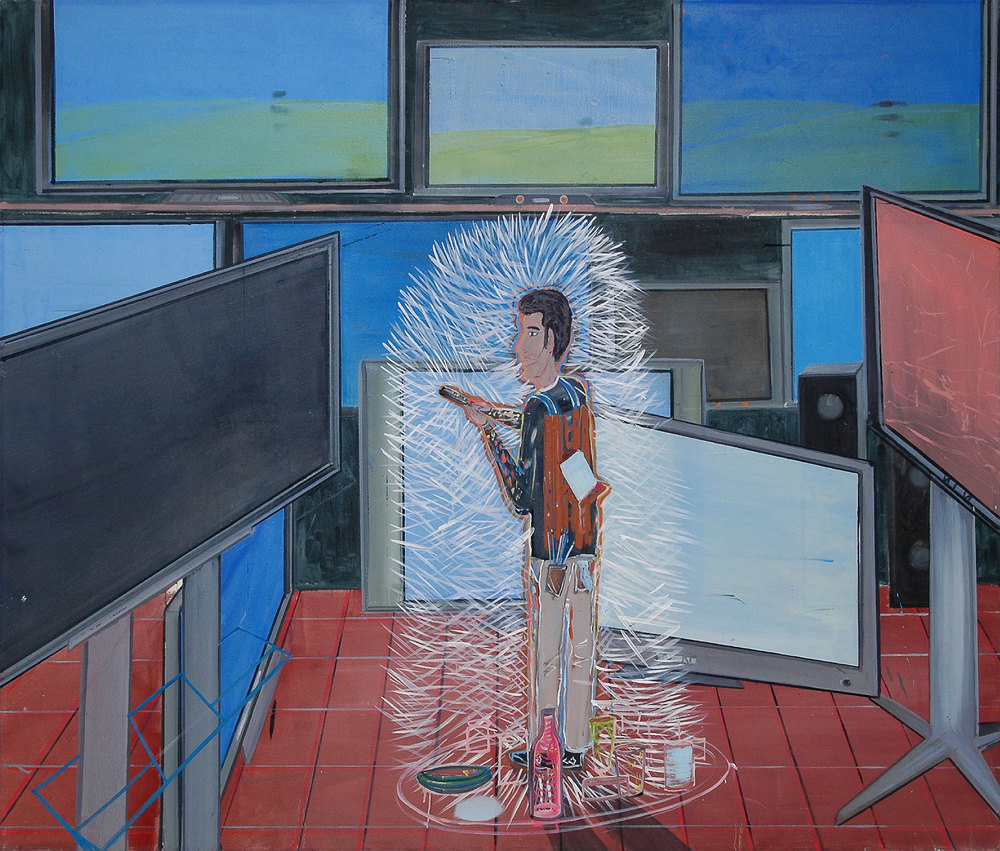 The Ancient and the Plasma, 2008 Oil on canvas, 160X187 cm