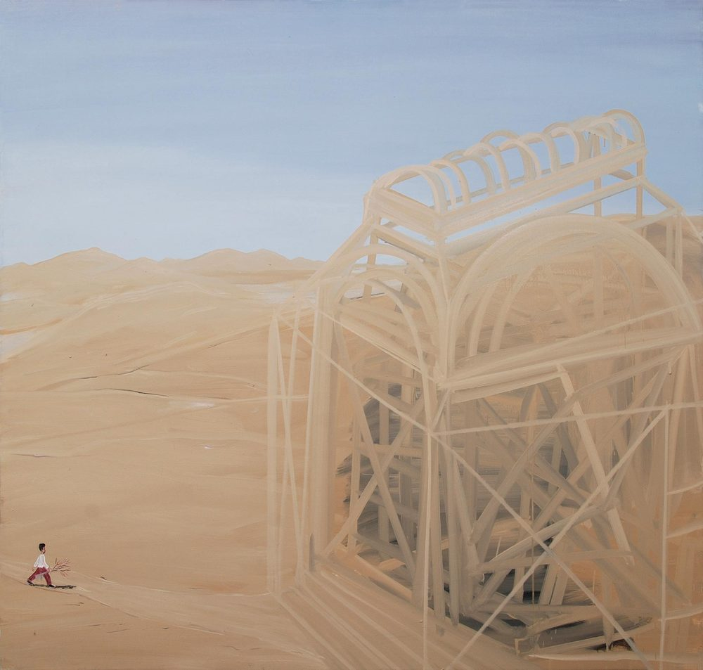 Going There, 2009    Oil on canvas, 178x181 cm